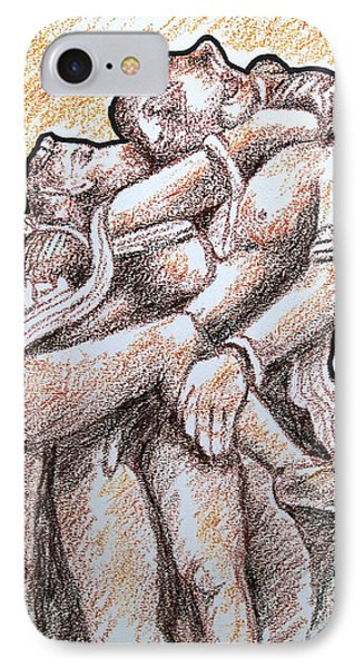 IPhone Case featuring the painting Romantic Love by Ragunath Venkatraman