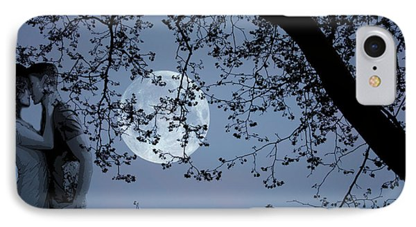 Romantic Moon 2  IPhone Case by Angel Jesus De la Fuente
