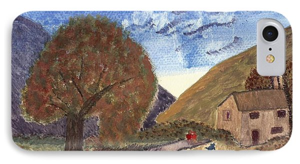 IPhone Case featuring the painting Romantic Walk by Tracey Williams