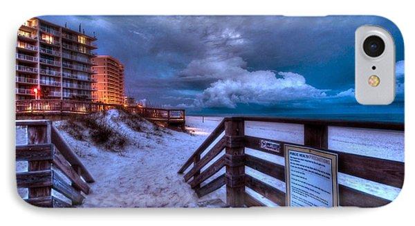 Romar Beach Clouds Phone Case by Michael Thomas