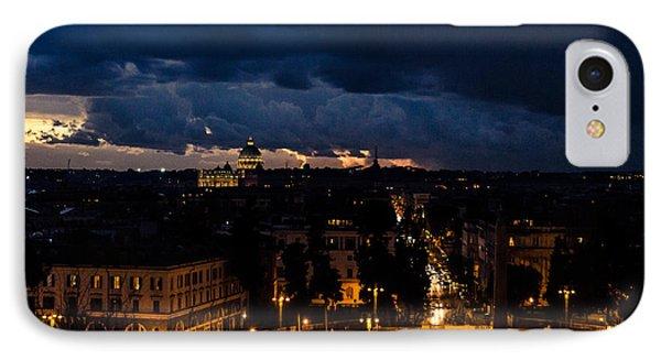 Rome Cityscape At Night  IPhone Case by Andrea Mazzocchetti