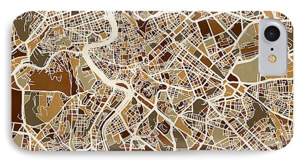 Rome Italy Street Map IPhone Case by Michael Tompsett