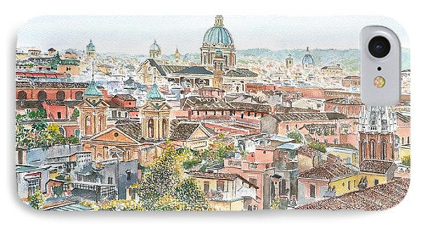 Rome Overview From The Borghese Gardens Phone Case by Anthony Butera