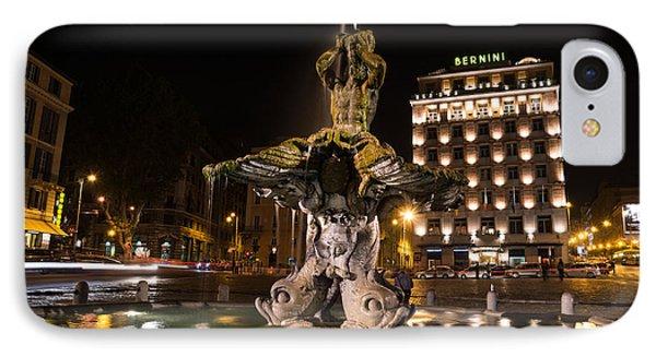 Rome's Fabulous Fountains - Bernini's Fontana Del Tritone IPhone Case