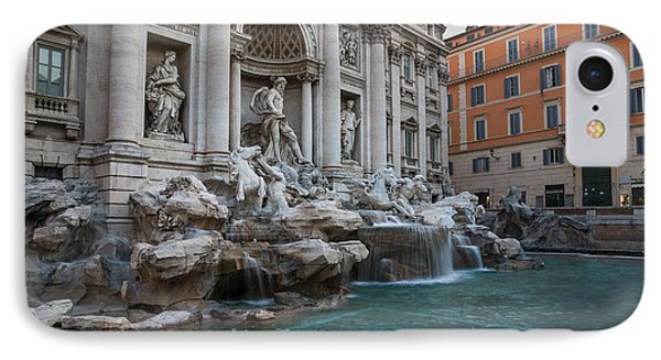 Rome's Fabulous Fountains - Trevi Fountain - No Tourists Phone Case by Georgia Mizuleva
