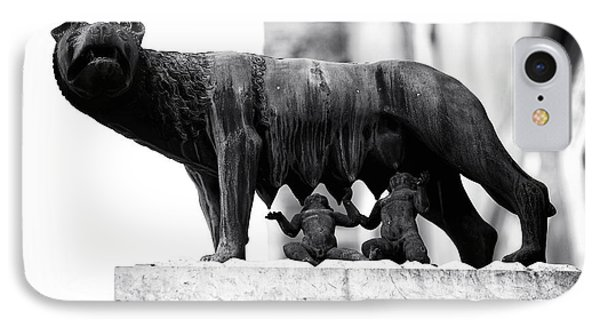 Romulus And Remus IPhone Case by John Rizzuto