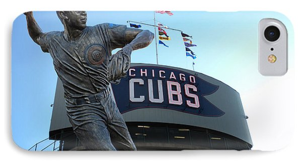 Ron Santo Chicago Cubs Statue Phone Case by Thomas Woolworth