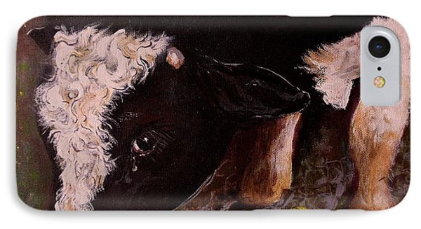 IPhone Case featuring the painting Ron The Bull by Maria  Disley