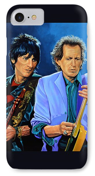 Rolling Stone Magazine iPhone 7 Case - Ron Wood And Keith Richards by Paul Meijering