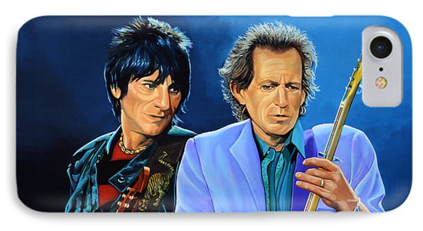 Ron Wood And Keith Richards Phone Case by Paul Meijering