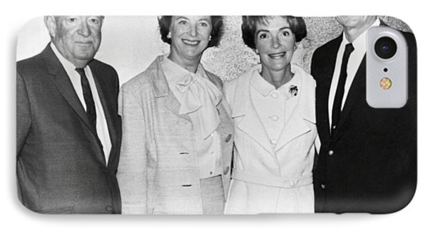Ronald And Nancy Reagan IPhone Case by Underwood Archives