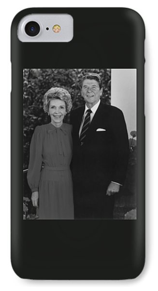 Ronald And Nancy Reagan IPhone Case by War Is Hell Store
