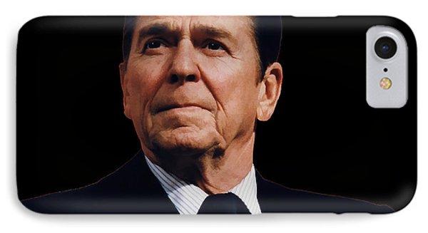 Ronald Reagan  1911 - 2004 IPhone Case by Daniel Hagerman