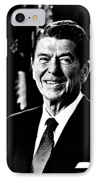 Ronald Reagan IPhone Case by Benjamin Yeager