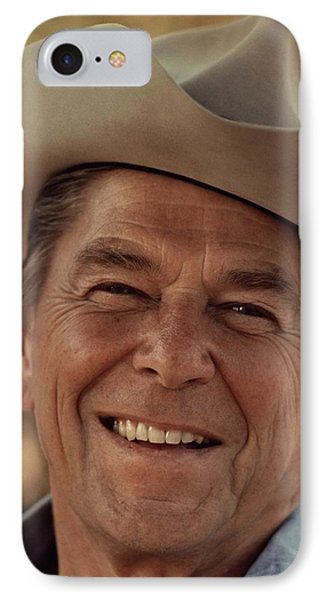 Ronald Reagan In 1976 At His Home At Rancho Del Cielo Phone Case by Movie Poster Prints