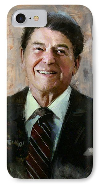 Ronald Reagan Portrait 7 Phone Case by Corporate Art Task Force