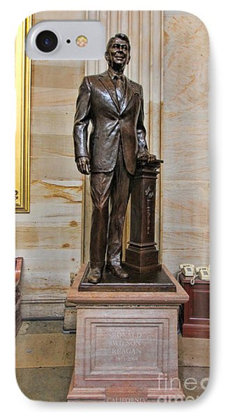 Ronald Regan -  U S Capitol Statuary Hall IPhone Case by Allen Beatty