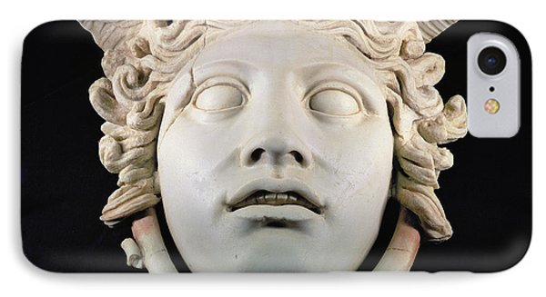 Rondanini Medusa, Copy Of A 5th Century Bc Greek Marble Original, Roman Plaster IPhone Case by .