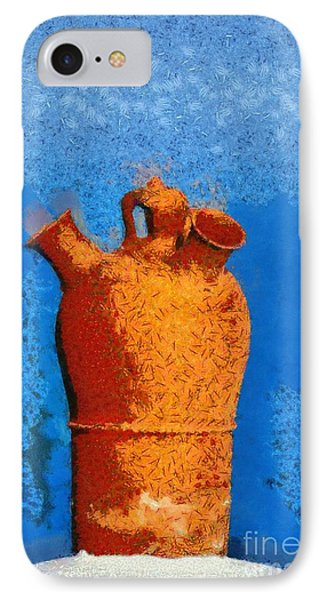 Roof Pottery In Sifnos Island Phone Case by George Atsametakis