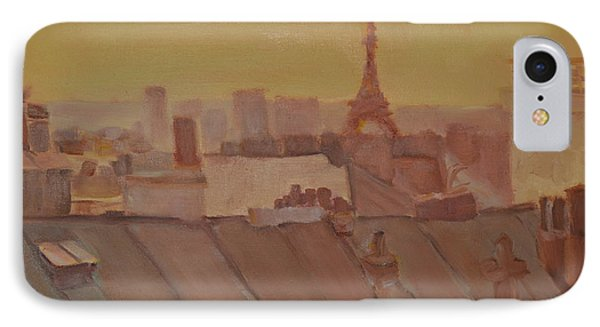 IPhone Case featuring the painting Roofs Of Paris by Julie Todd-Cundiff