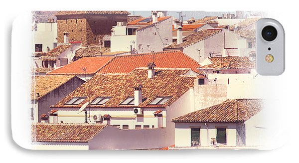 Roofs Of Ronda. Mini-ideas For Interior Design IPhone Case by Jenny Rainbow