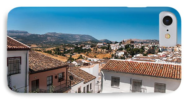 Roofs Of Ronda. Spain IPhone Case by Jenny Rainbow