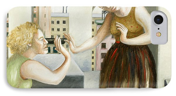 Rooftop Annunciation One IPhone Case by Caroline Jennings