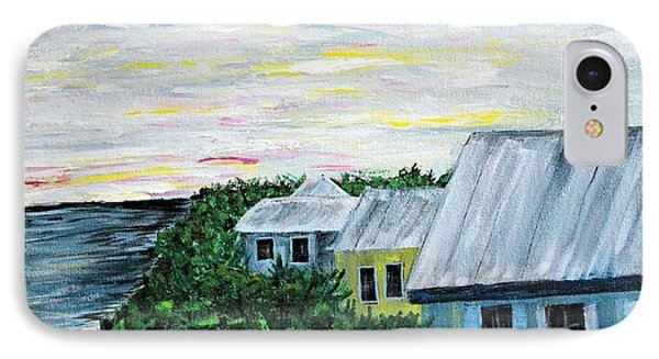 Rooftops At Sunset IPhone Case by Debbie Baker