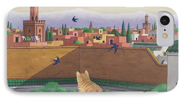 Rooftops In Marrakesh IPhone Case by Larry Smart