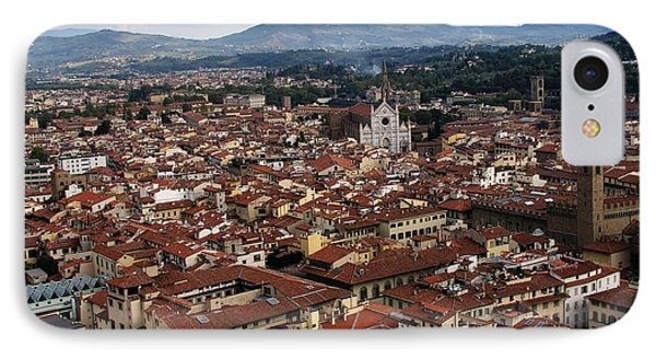 Rooftops Of Florence Phone Case by David and Mandy