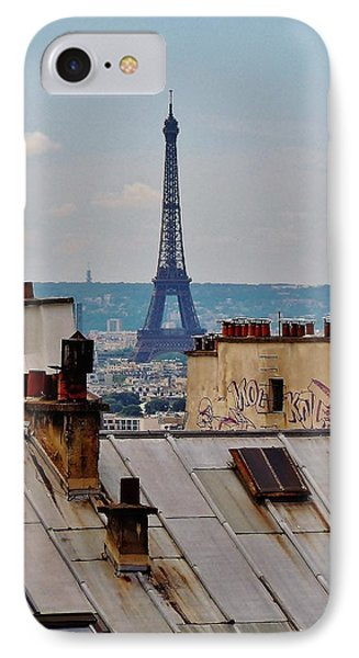 Rooftops Of Paris And Eiffel Tower Phone Case by Marilyn Dunlap