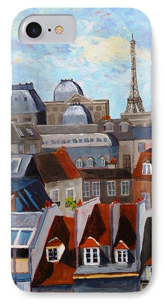 Rooftops Of Paris IPhone Case by Diane Arlitt