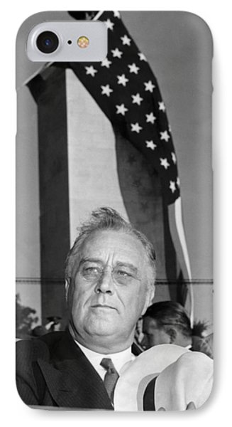 Roosevelt At Gettysburg IPhone Case by Underwood Archives