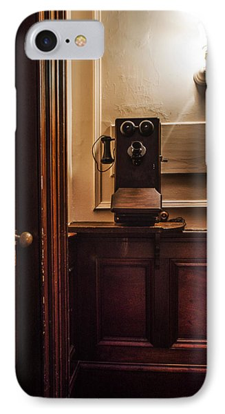 Roosevelts Phone - Hyde Park Ny IPhone Case by Bill Cannon