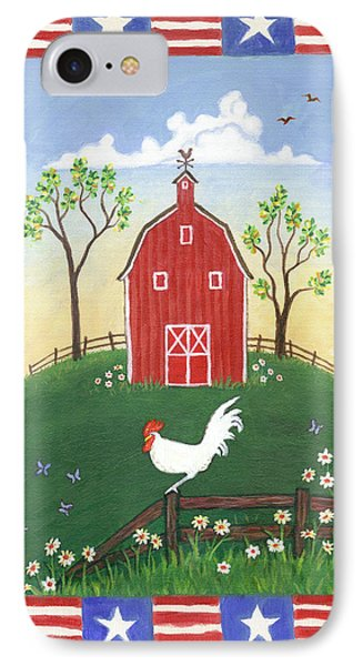 Rooster Americana Phone Case by Linda Mears