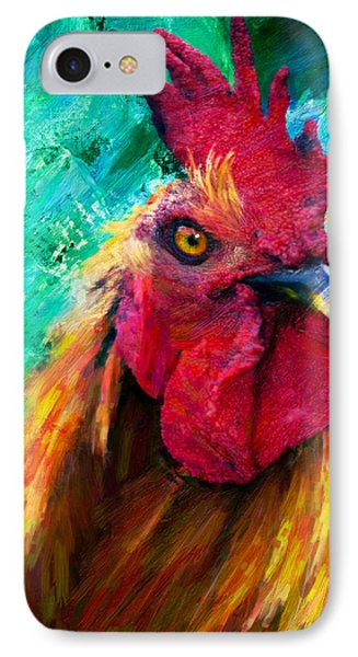 Rooster Colorful Expressions IPhone Case by Georgiana Romanovna