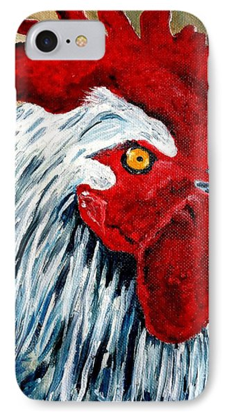 IPhone Case featuring the painting Rooster Doodle by Julie Brugh Riffey