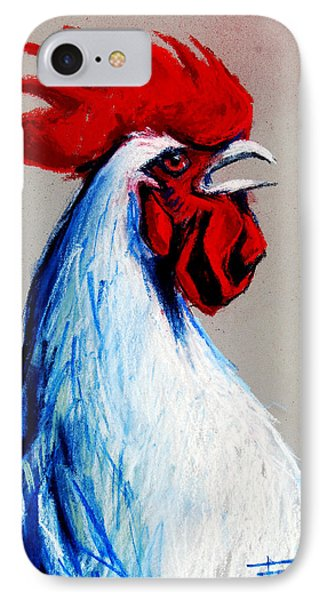 Rooster Head IPhone Case by Mona Edulesco