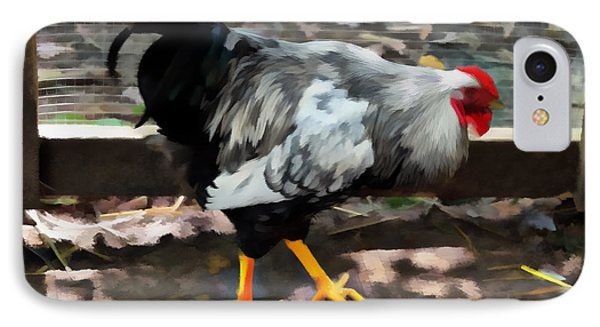 Rooster IPhone Case by Kathleen Stephens
