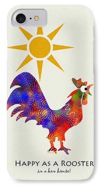 Rooster Pattern Art IPhone 7 Case by Christina Rollo