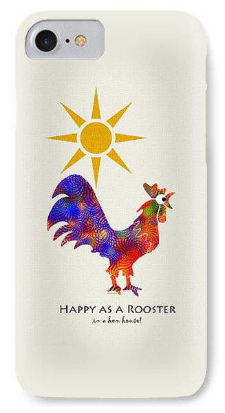 Rooster Pattern Art IPhone Case by Christina Rollo