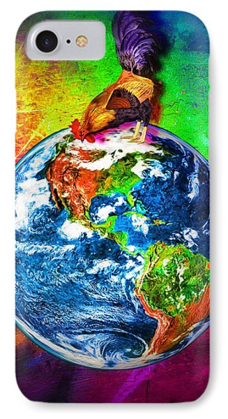 Rooster Planet Earth IPhone Case