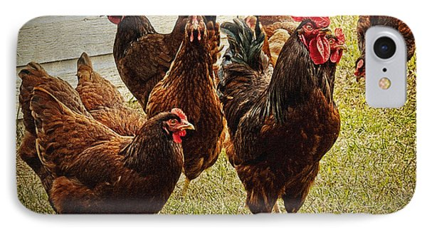 Rooster's Flock IPhone Case by Lee Craig