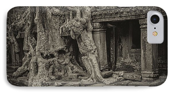 Roots In Ruins 7, Ta Prohm, 2014 IPhone Case by Hitendra SINKAR