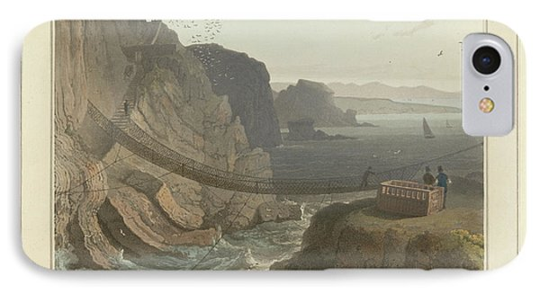 Rope Bridge Near The Lighthouse IPhone Case by British Library