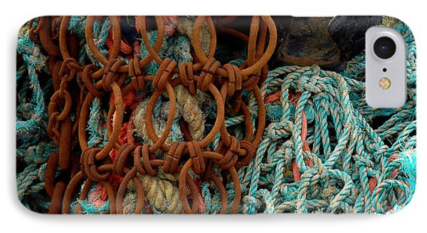 IPhone Case featuring the photograph Ropes And Rusty Wires by Dorin Adrian Berbier