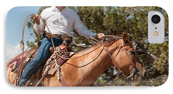 IPhone Case featuring the photograph Ropin' by Sherry Davis