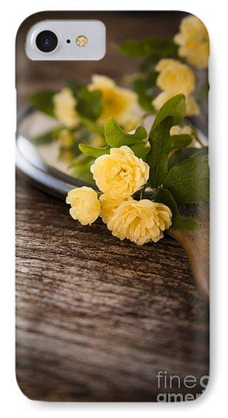 Rosa Banksiae Lutea IPhone Case by Jan Bickerton
