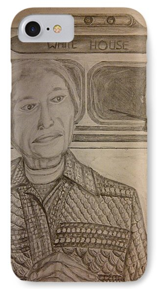Rosa Parks Imagined Progress Phone Case by Irving Starr