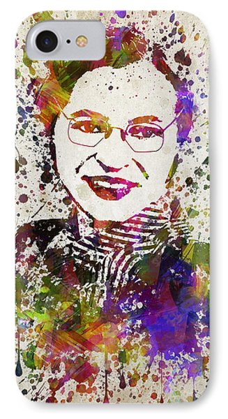 Rosa Parks In Color IPhone Case by Aged Pixel